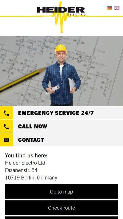 Kunden Website heiderelektro