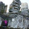 Ida at the ruin Weissenstein