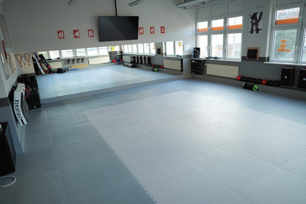 Trainingsfläche der Kampfsportschule Jena