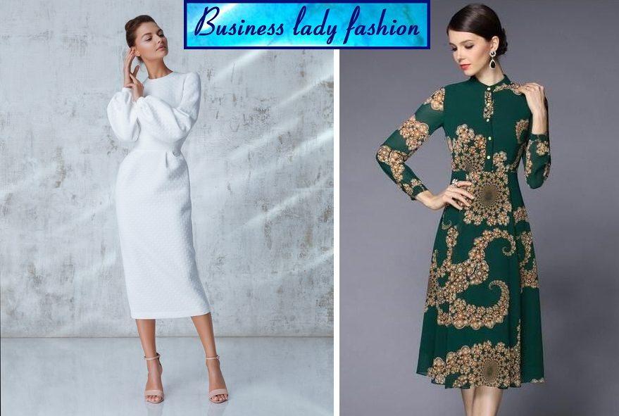 Duge Haljine Za Punije Zene Business Lady Fashion