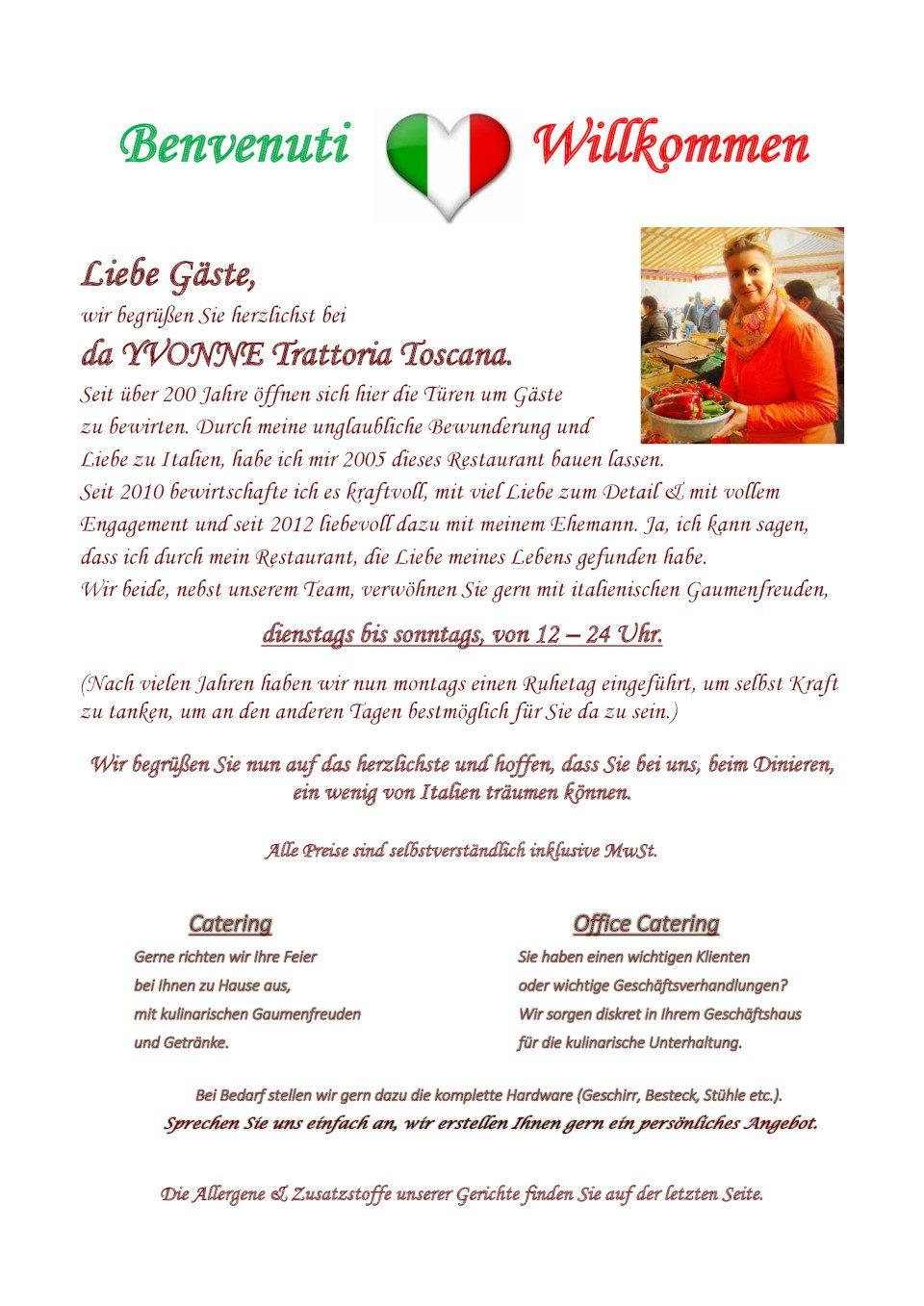 Trattoria Toscana - Italienisches Restaurant in Berlin Grunewald