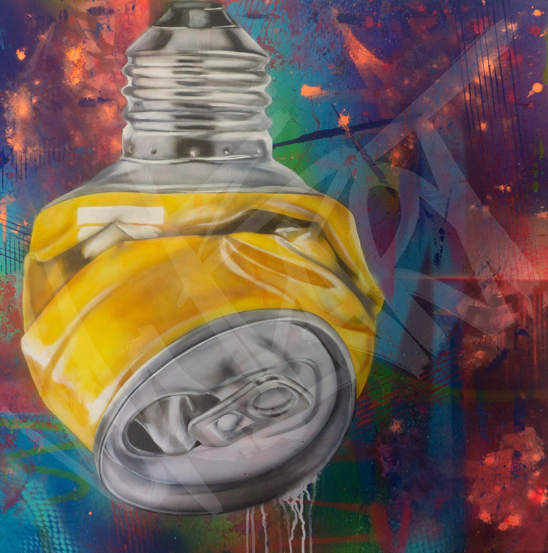 GlühDose - 80 x 80 cm