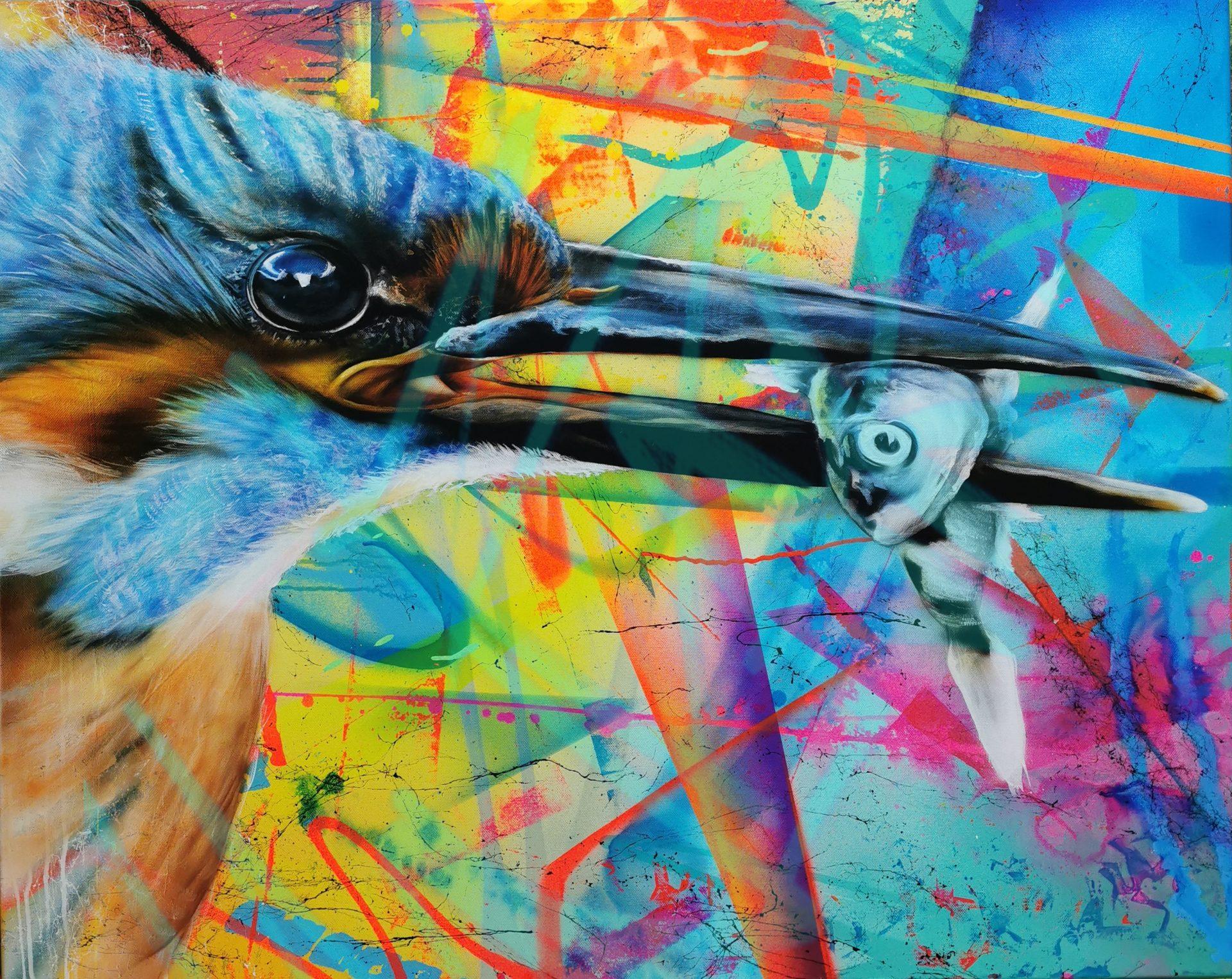 Müder Fisch - 100 x 80 cm