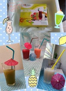 Tropifruit Juice Pads Mix-Box enthält 5 verschiedenen Fruchtsorten.