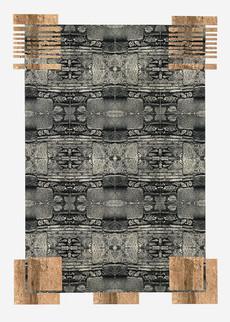 Epidaures (90x70 cm) - Baryt / Tee- und Goldtonung auf Karton