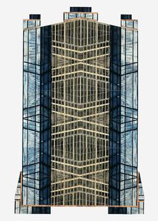 Glashaus (90x70 cm) - Baryt / Eisen- Schwefel- und Goldtonung auf Karton