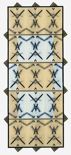 Totem 1 (90x70 cm) - Baryt / Tee- und Eisentonung auf Karton