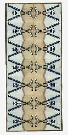 Totem 3 (90x70 cm) - Baryt / Tee- und Eisentonung auf Karton
