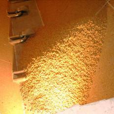 Pelletlagerraum mit Ansaugvorrichtung für die Pelletzufuhr