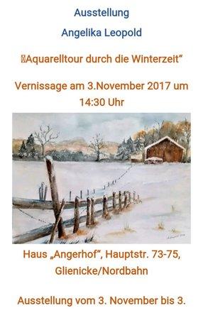 Ausstellung Aquarelle im Winter von Angelika Leopold
