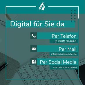 Digital für Sie erreichbar
