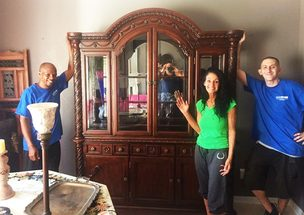 another satisfied greensboro moving customer on moving day!