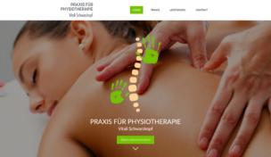 Imagen de pantalla www.vs-physiotherapie.de