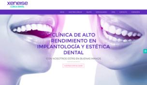 Imagen de pantalla www.clinicadentalxeneise.com