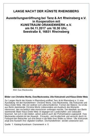 Lange Nacht der Künste in Rheinsberg