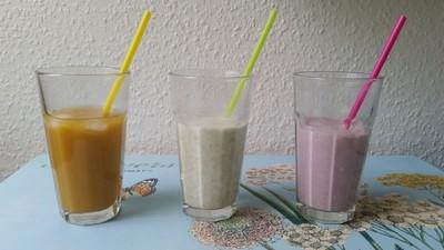 Tropifruit Juice-Pads sind nicht nur mit Wasser und/oder crushes ice gemixt sehr lecker. Auch mit Joghurt und/ oder Milch kann man damit köstliche und gesunde Drinks zubereiten.