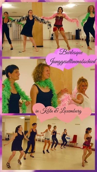 JGA Hen Party Köln Luxemburg Workshop Burlesque Anna Venture