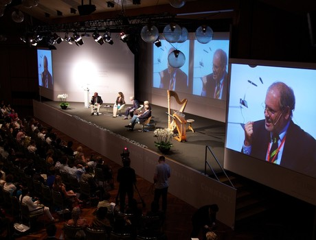 Tagung der Nobelpreisträger in Lindau: Umrahmung der Reden und Beiträge