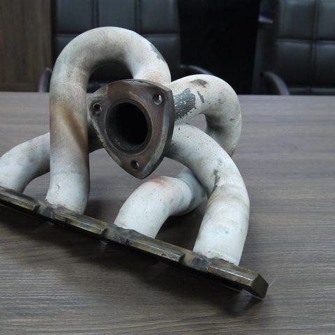 Krümmer mit Keramik beschichtet - vorher