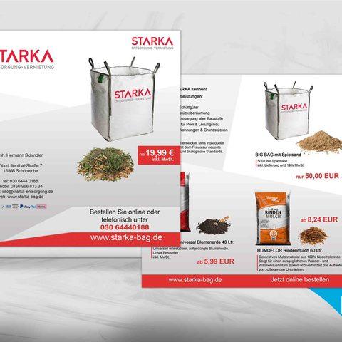 Flyerdesign Starka Unternehmen