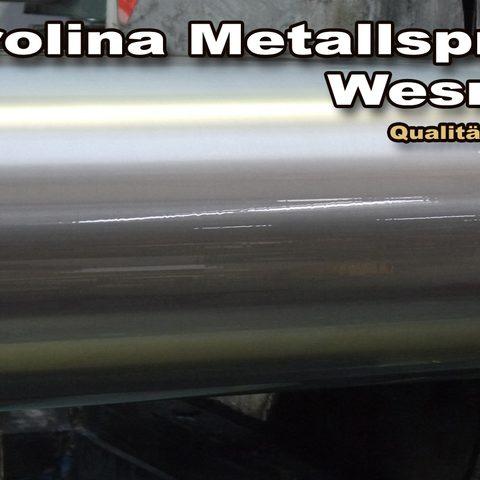 Berolina Metallspritztechnik - Walze aufgespritzt und nachbearbeitet durch Rundschleifen