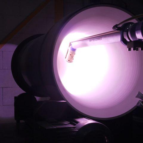 Keramische Beschichtung von Kraftwerksteilen im Plasmaspritzverfahren