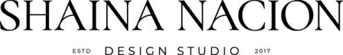 Shaina Nacion Design Logo