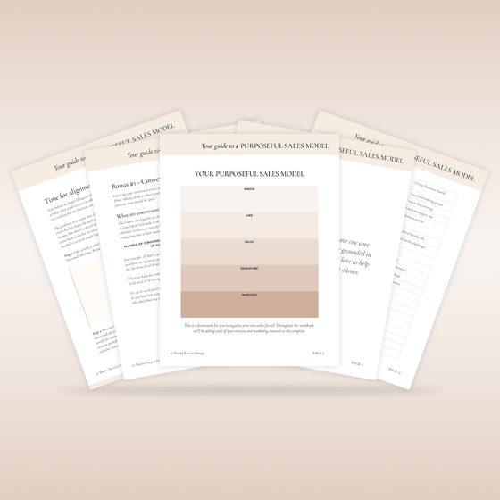 Preview of Purposeful Sales Model workbook