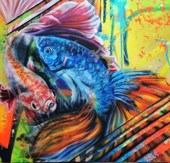 Amana Koi Fish - 85 x 90 cm