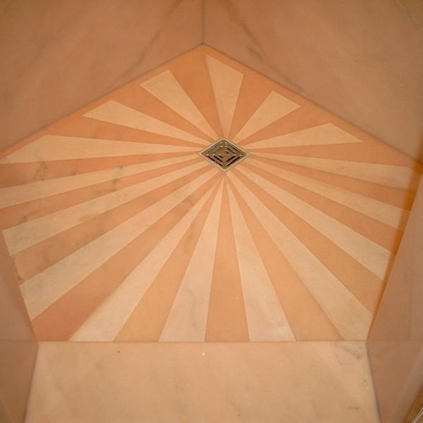 <h2>Kunde / Ort</h2> <br> Privat <br><br>  <h2>Ausführung / Material</h2> <br> Duschtasse aus Estremoz.