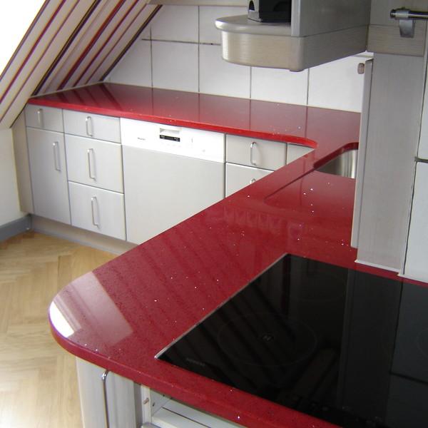 <h2>Kunde / Ort</h2> <br> Privat <br><br>  <h2>Ausführung / Material</h2> <br> Küchenarbeitsplatten aus Silestone Eros Stellar, mit eingearbeiteter Abtropffläche.