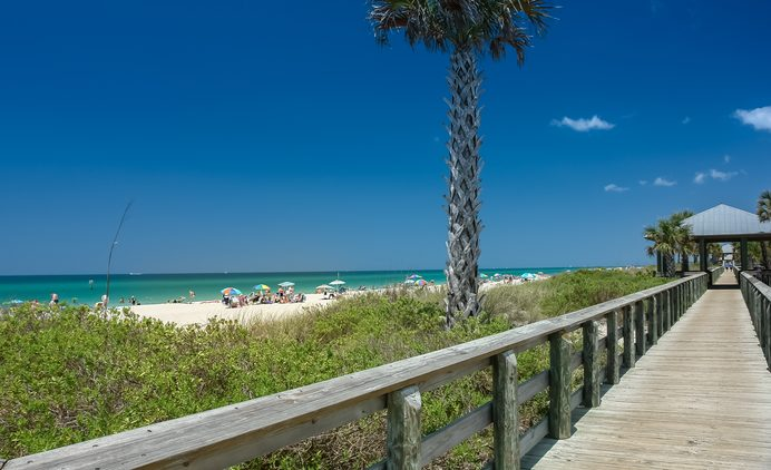 Strandbild auf Sicht des Englewood Beaches in Charlotte County