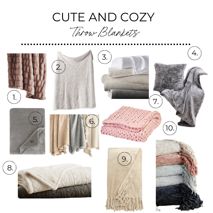 Cute and cozy throw blankets