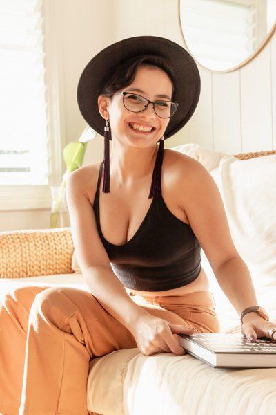 Portrait of designer Shaina Nacion
