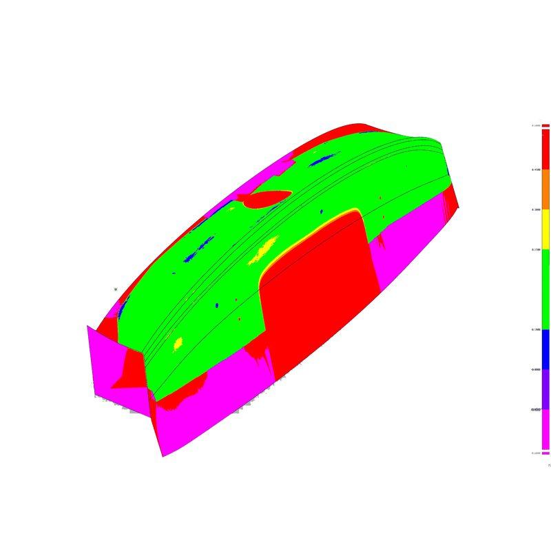 Flächenrückführung nach 3D Scann einer Heckklappe BMW M4 F82