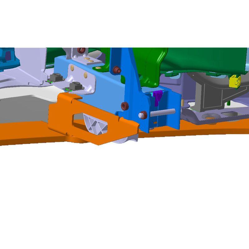 CAD Konstruktion Carbon Spoiler Halter