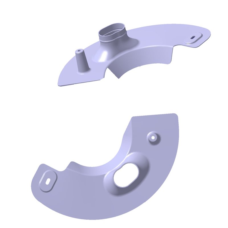 CAD Konstruktion Carbon  Brake Ducts / Bremsbelüftungen BMW