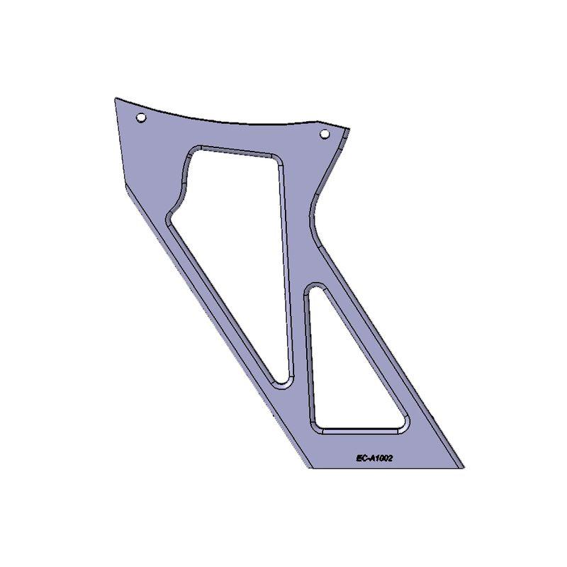 CAD Konstruktion Alu Halter für BMW Heckflügel