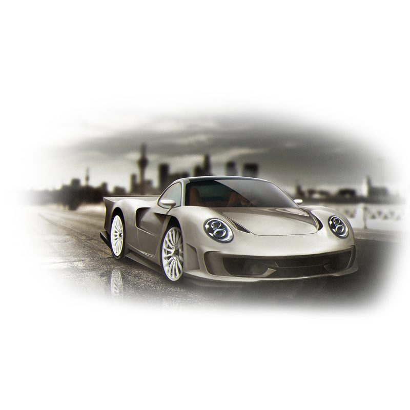 Design Entwurf Carbon Body Kit Porsche