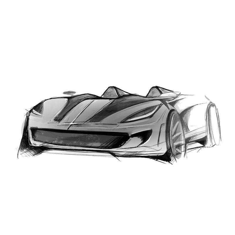 Design Entwurf Supercar