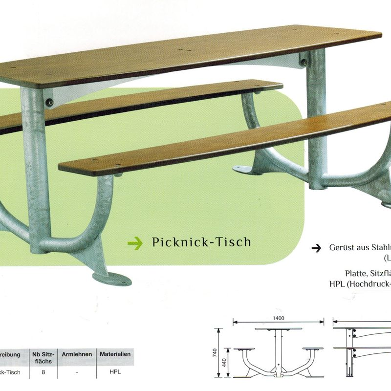 Picknick-Tisch, AB-JEL-0137