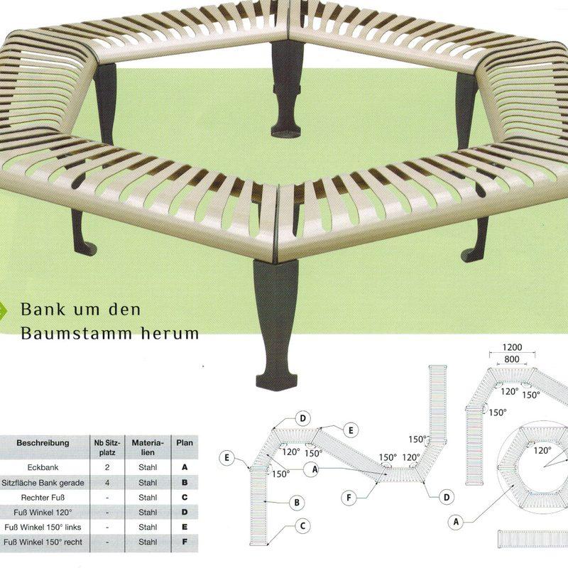 Lounge Bank um den Baumstamm herum, AB-JAN--0084-00089