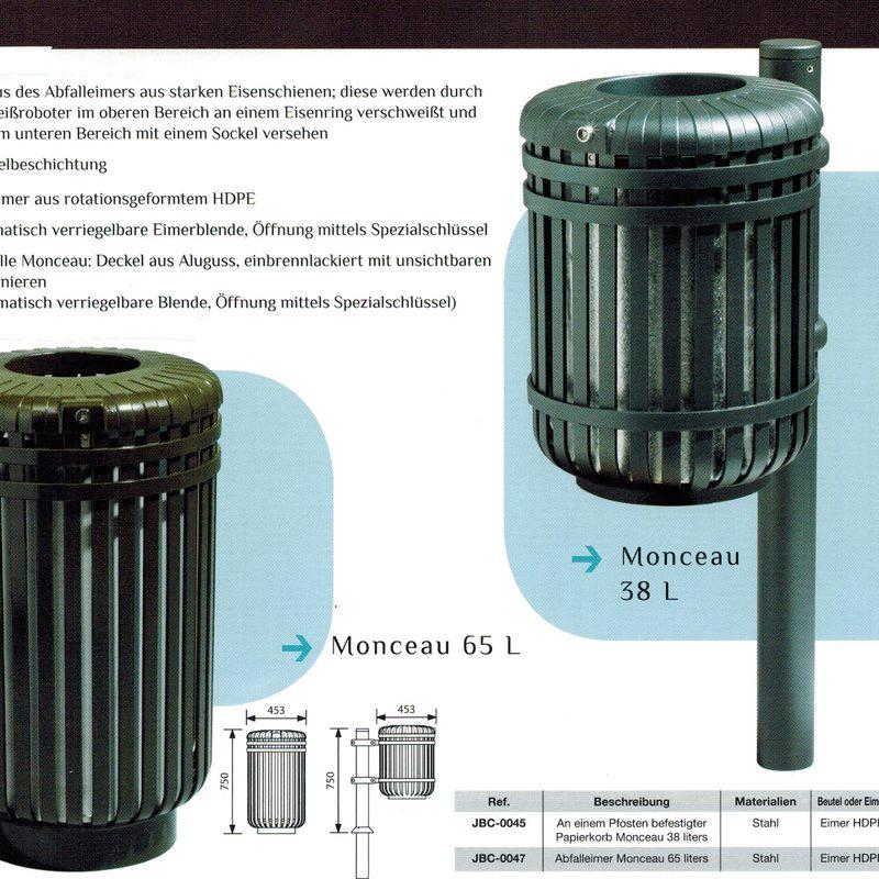 Papierkorb MONCEAU, AB-JBC-0045 + AB-JBC-0047