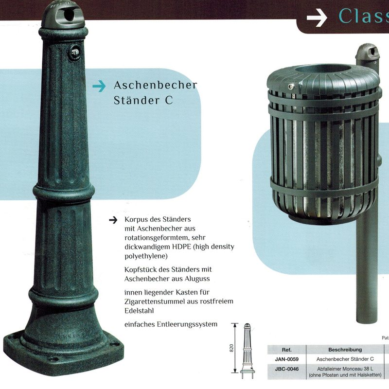 Aschenbecher STEEL & STYLE, AB-JAN-0059 + AB-JBC-0046
