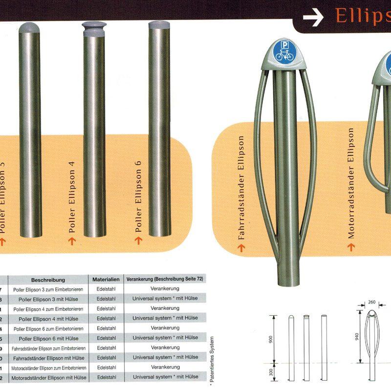Fahrradständer Ellipson, AB-JEL-0017 .. AB-JEL-0175