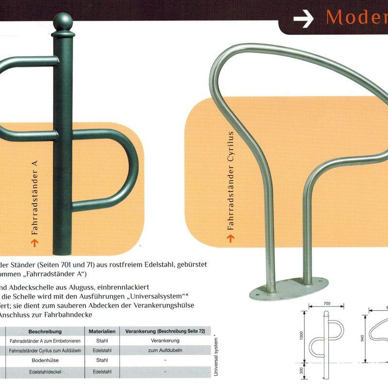 Faharradständer Modern, AB-JMU0034, AB-JAN-0082, AB-JMU-0146/47