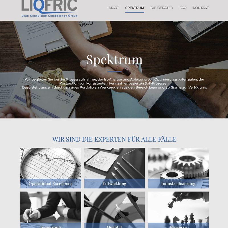 LIQFRIC Consulting | Laufende Beratung, Erstellung der Website und Corporate Communication