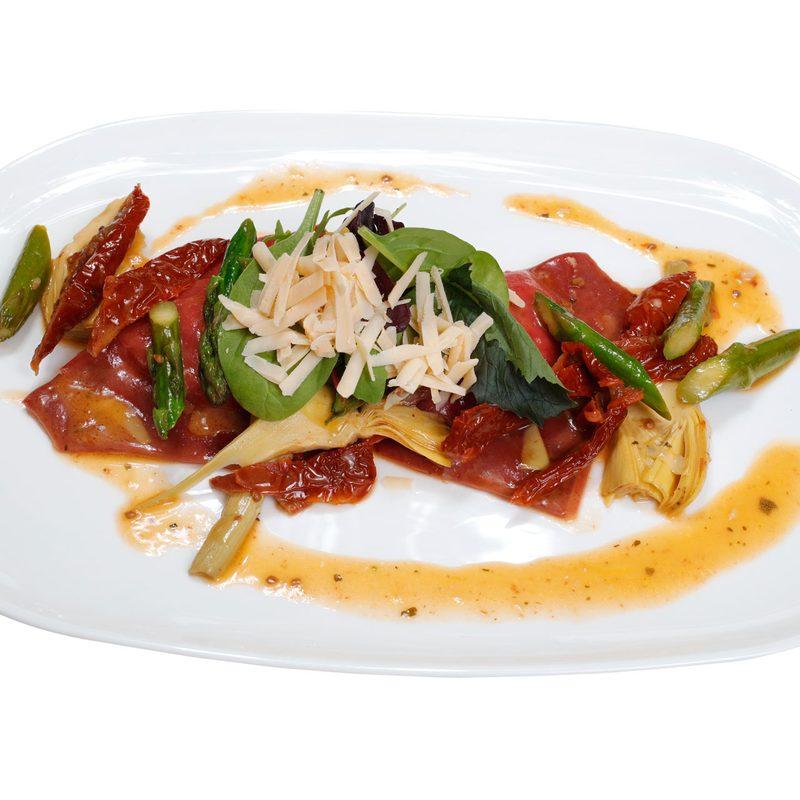 Ravioli con pecorino e carciofi