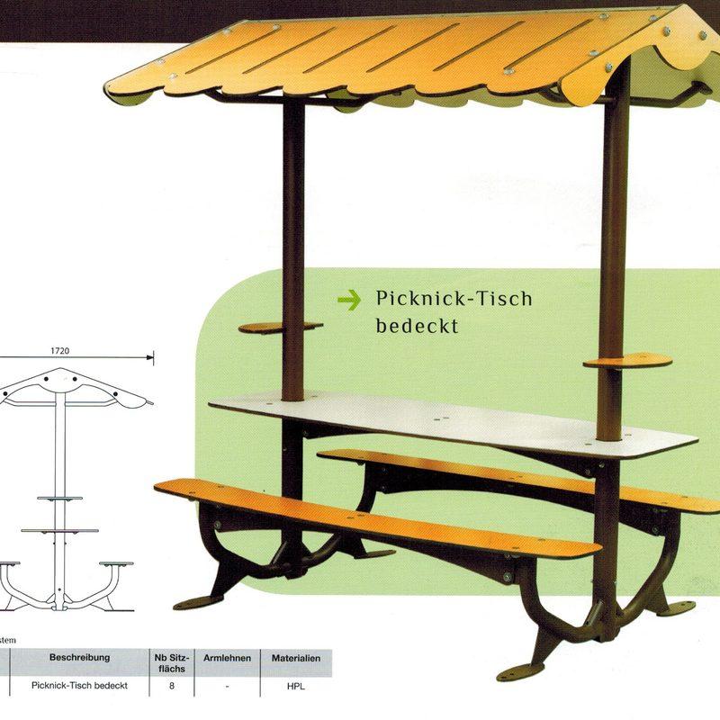 Picknick-Tisch mit Dach, AB-JAN-0037
