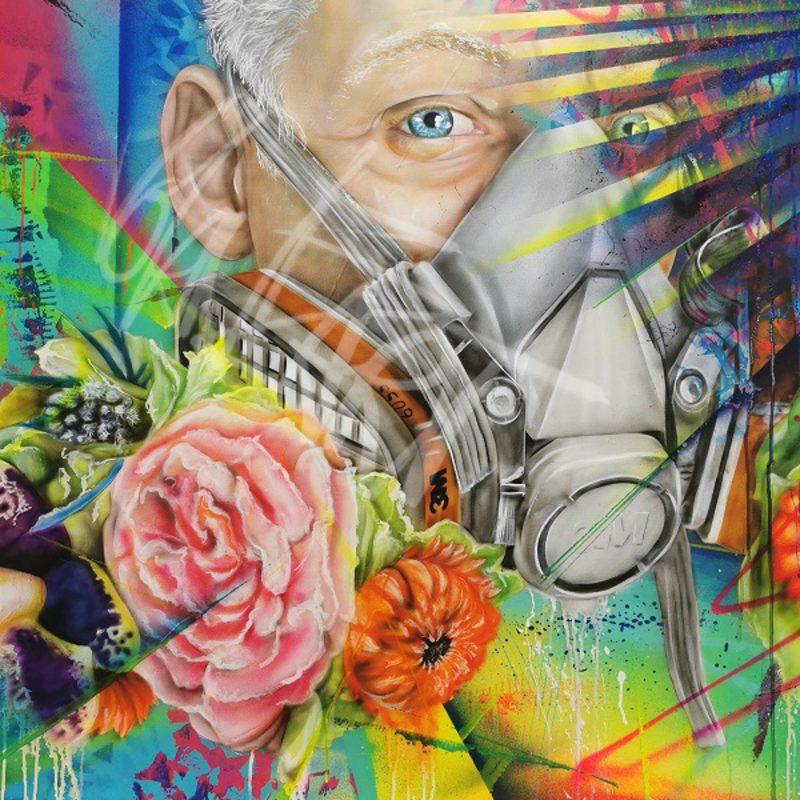 Blütenstaub - 100 x 100 cm